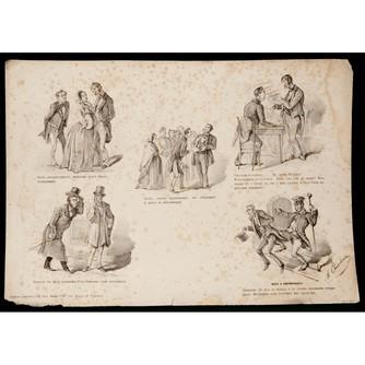 Сатирическая литография «Особа, которая осыпает милостями...»