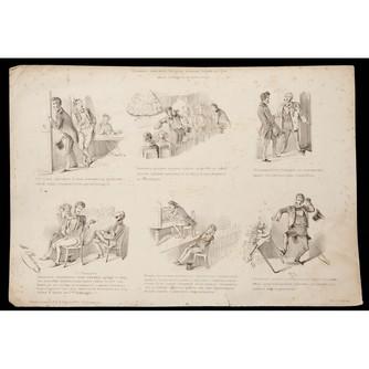 Сатирическая литография «Похождения дилетанта...»