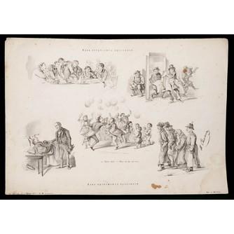 Сатирическая литография «Как встречают праздники»