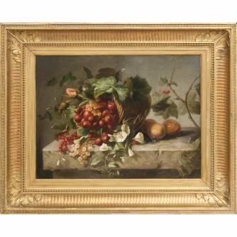 «Натюрморт с ягодами, фруктами и цветами»