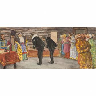 Владимиров Василий Васильевич (1880-1931) - Владимиров Василий Васильевич (1880-1931) Парные акварели «Послы» и «Бояре»