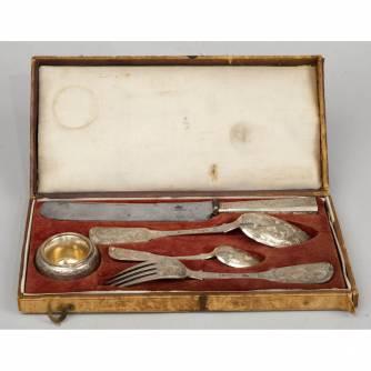 Набор столового серебра «Эгоист» (5 предметов). Москва. 1856 г.