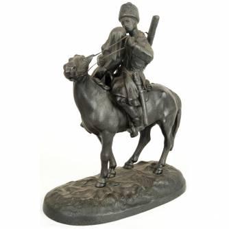 Торокин Василий Федорович (1845-1912) Скульптурная композиция «Прощание казака с казачкой»