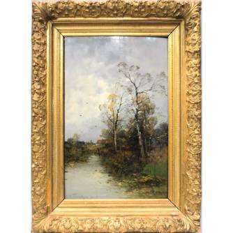 Heinz Flockenhaus (1856-1919) «Осенний день. Ветер»