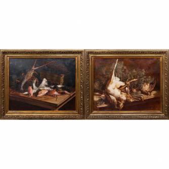 Парные натюрморты «Рыба», «Дичь»