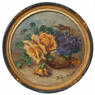 Картина «Натюрморт с желтыми розами»