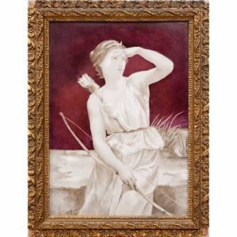 Фарфоровый пласт «Диана-охотница»