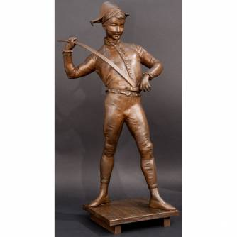Скульптура «Арлекин», Paul Dubois (1858-1938)