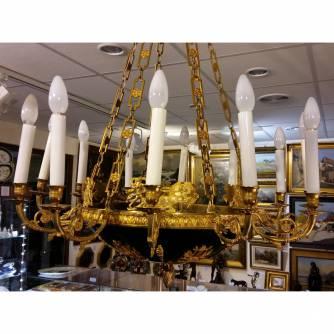 Люстра на 12 свечей в стиле неоклассицизм