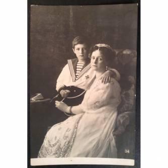 Почтовая карточка «Ея Императорское Величество Государыня Императрица Александра Феодоровна и Наследник Цесаревич»