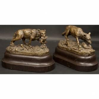 Парные фигуры «Волк с уткой» и «Волк с барашком»