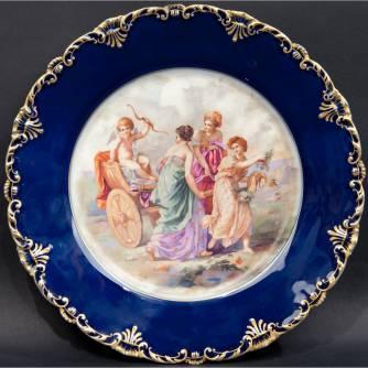 Тарелка декоративная «Колесница Амура»