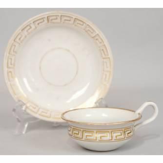 Чашка с блюдцем «Меандр»