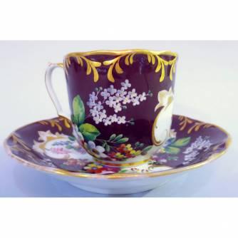 Чашка с блюдцем «Цветочный букет»