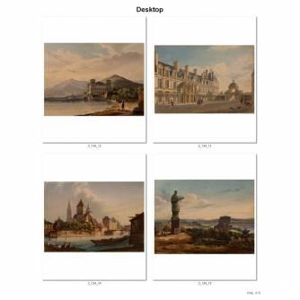 Коллекция цветных литографий из 19 шт.