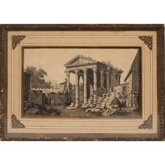 Акварель «Античные руины»