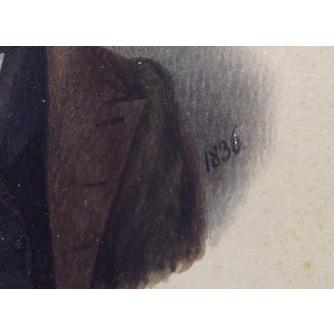 Парные миниатюры «Мужской портрет» и «Женский портрет»