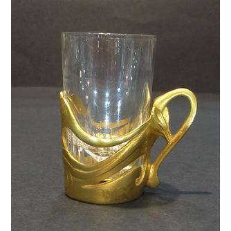 Подстаканничек в стиле модерн со стаканом