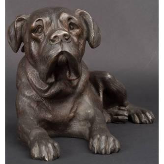 Скульптура «Собака» V.Chemin (1825-1901)