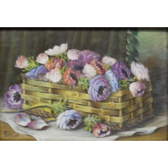 "Картина ""Цветы в корзине"""