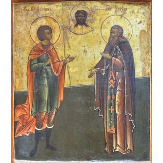 """Икона """"Св. муч. Дмитрий и пр. Сергий"""""""