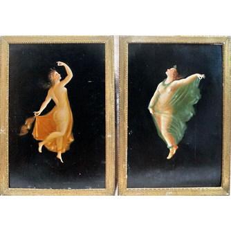 """Парные картины """"Танцующие нимфы"""""""