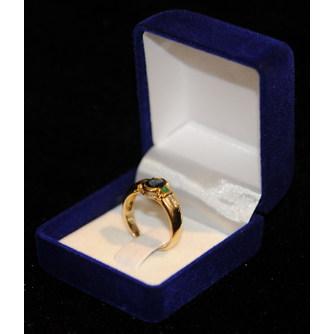 Кольцо с сапфиром и изумрудами