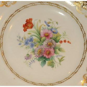 """Сервизная тарелка """"Цветочный букет с тюльпаном"""""""