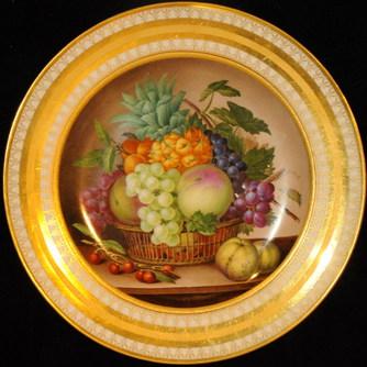Тарелка «Корзина с фруктами» KPM