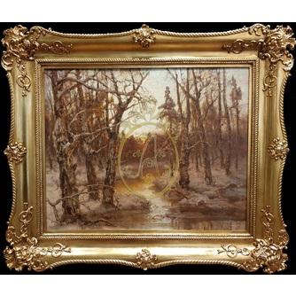 """Юлий Юльевич Клевер (1850-1924) """"Закат в лесу"""""""