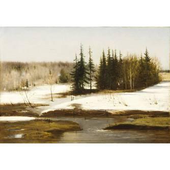 Брызгалов Валентин Александрович (1841-1887) - Брызгалов Валентин Александрович (1841-1887) «Весенний пейзаж»