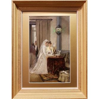 """Малышев Михаил Георгиевич (Егорович) (1852-1912) """"В ожидании жениха"""""""