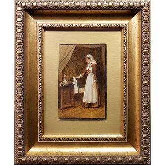 """Малышев Михаил Георгиевич (Егорович) (1852-1912) """"Сестра красного креста"""""""