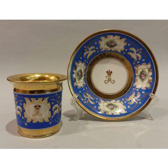 Чайная пара из Великокняжеского сервиза Александра II