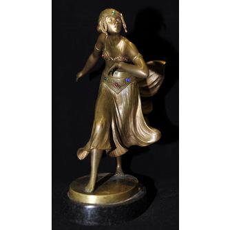 """Скульптура """"Танцовщица"""" Gotthilf Jaeger (1871-1933)"""