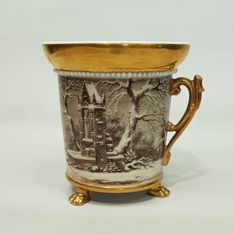 Чашка на лапах «Зимний пейзаж»