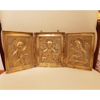 """Складень (триптих) """"Спаситель. Богородица. Св. Иоанн Креститель"""""""