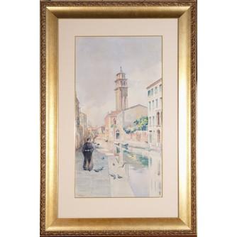 Акварель «Венеция, набережная»