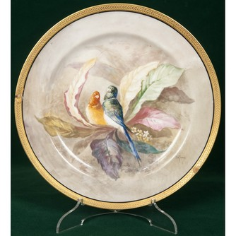 Тарелка декоративная «Два попугая»